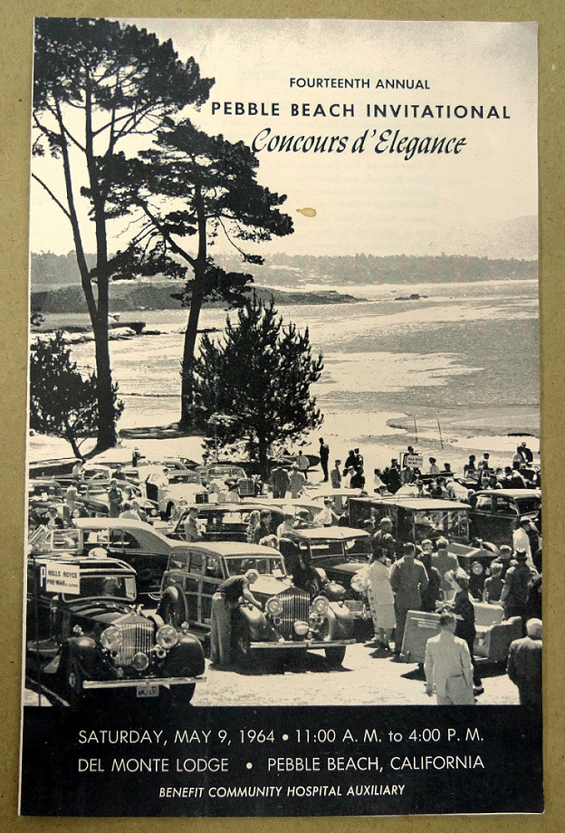 1964 Pebble Beach Concours entry list original vintage