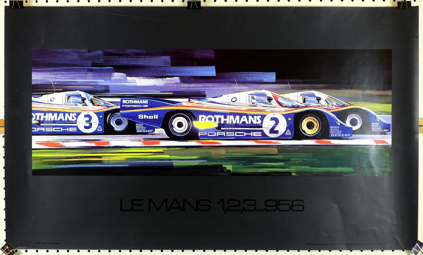 Le Mans 1,2,3...956 original art poster by Thierry Thompson