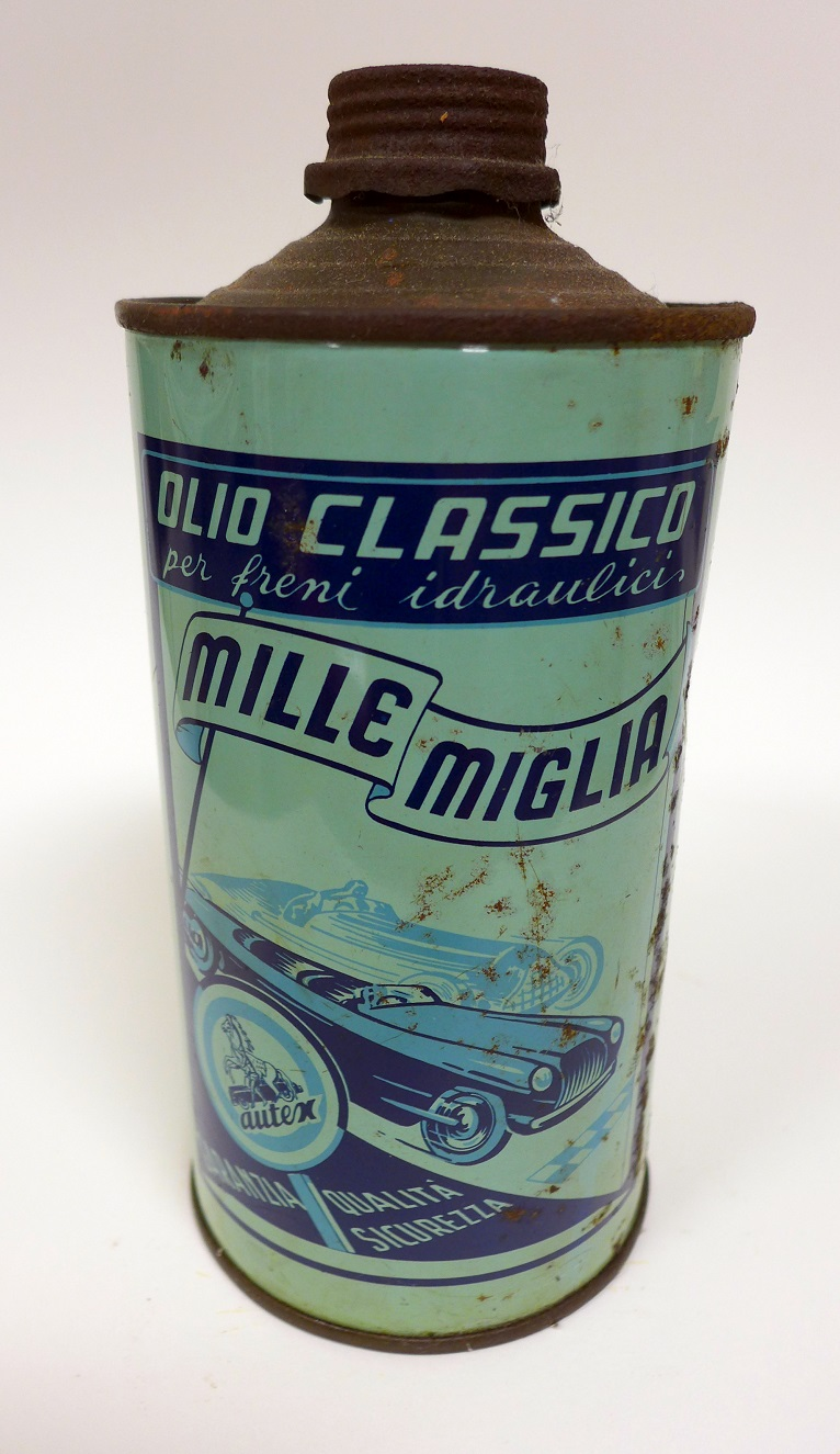 Mille Miglia original vintage oil can