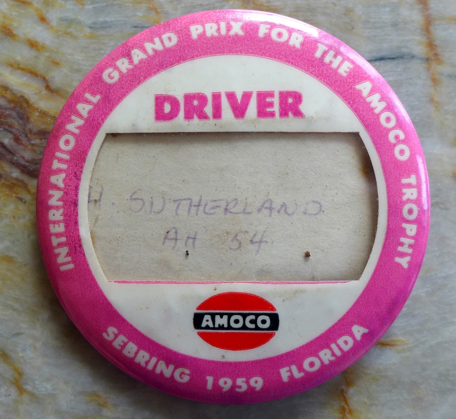 Sebring 1959 Grand Prix driver badge