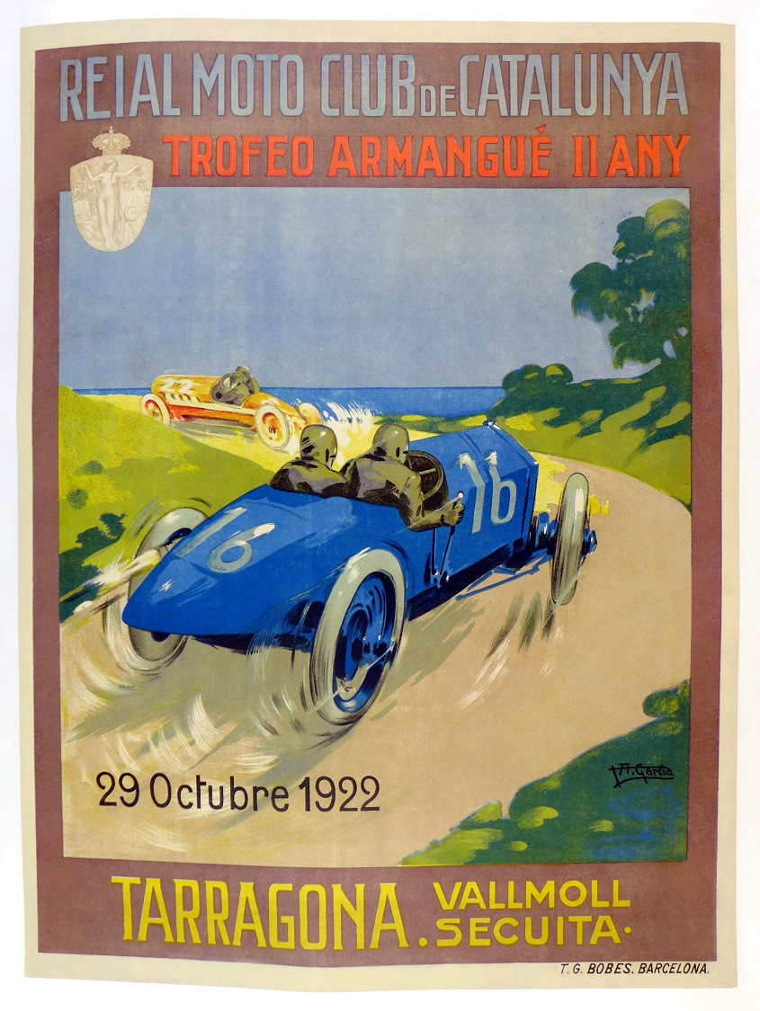 1922 Trofeo Armangue II Any original vintage auto race event poster