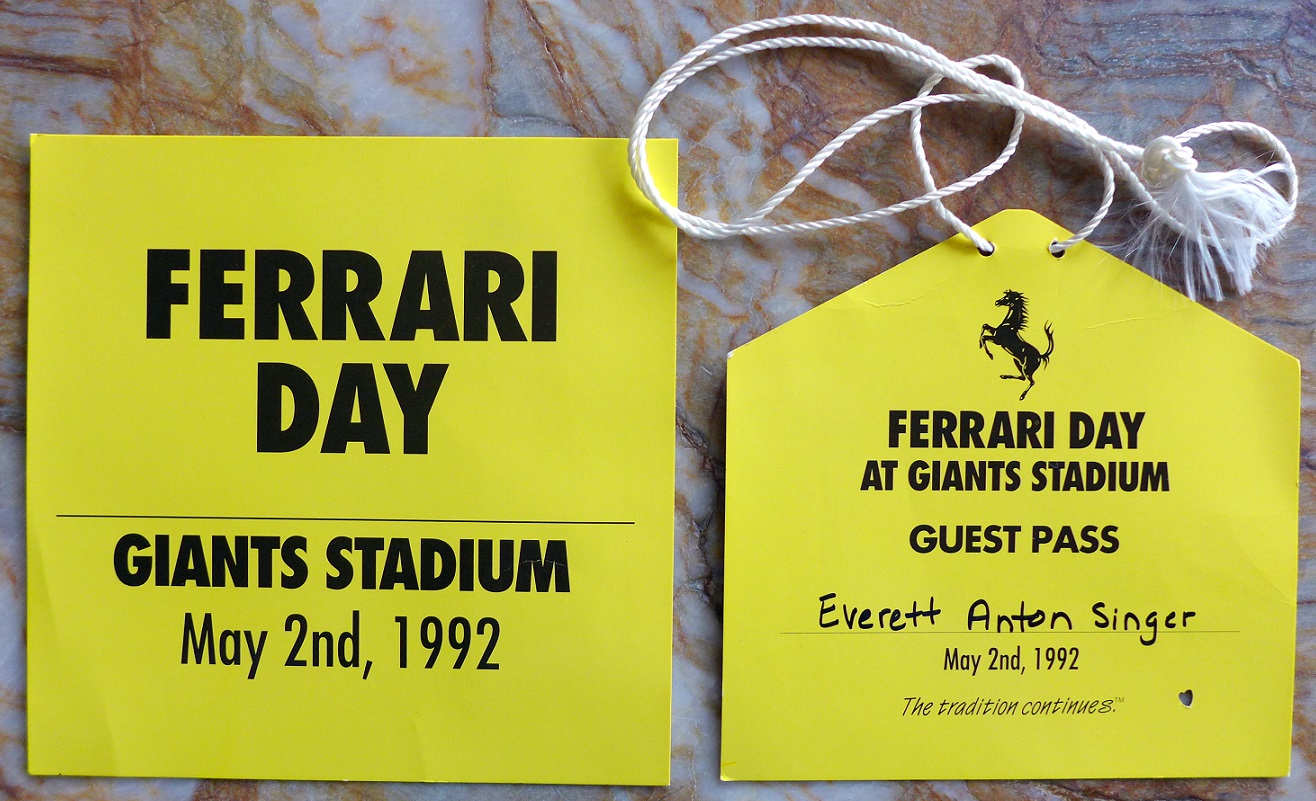 Ferrari Day at Giants Stadium 1992