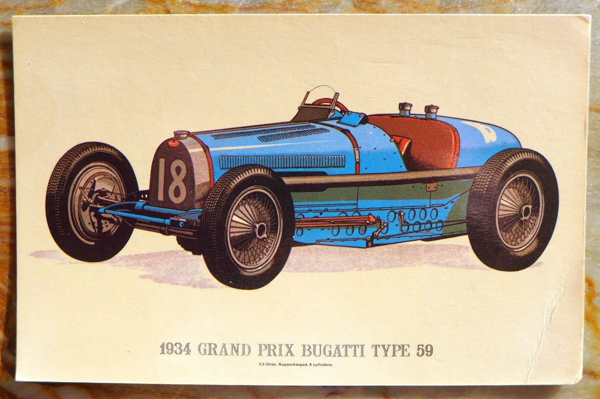 1934 Bugatti Type 59 post card