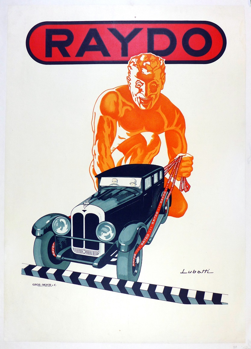 Raydo brakes original vintage advertising poster