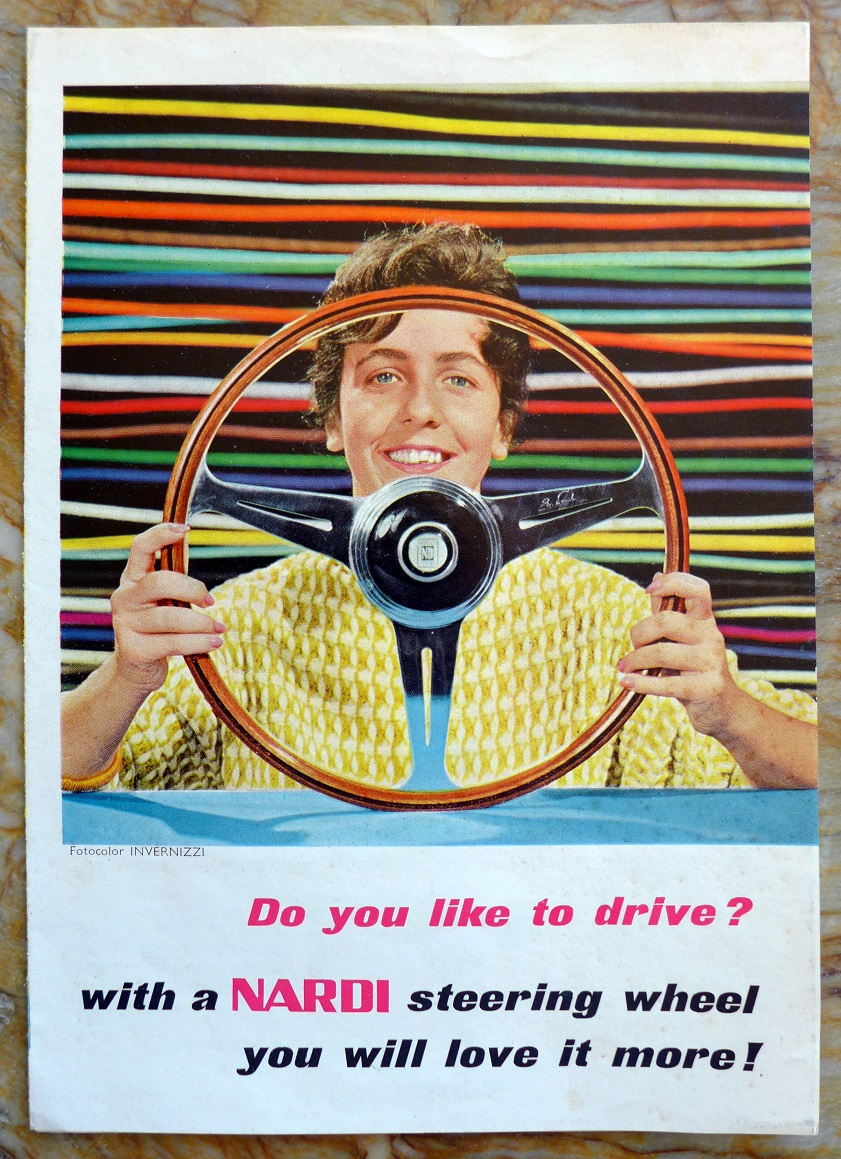Nardi original vintage steering wheel sales advertising folder