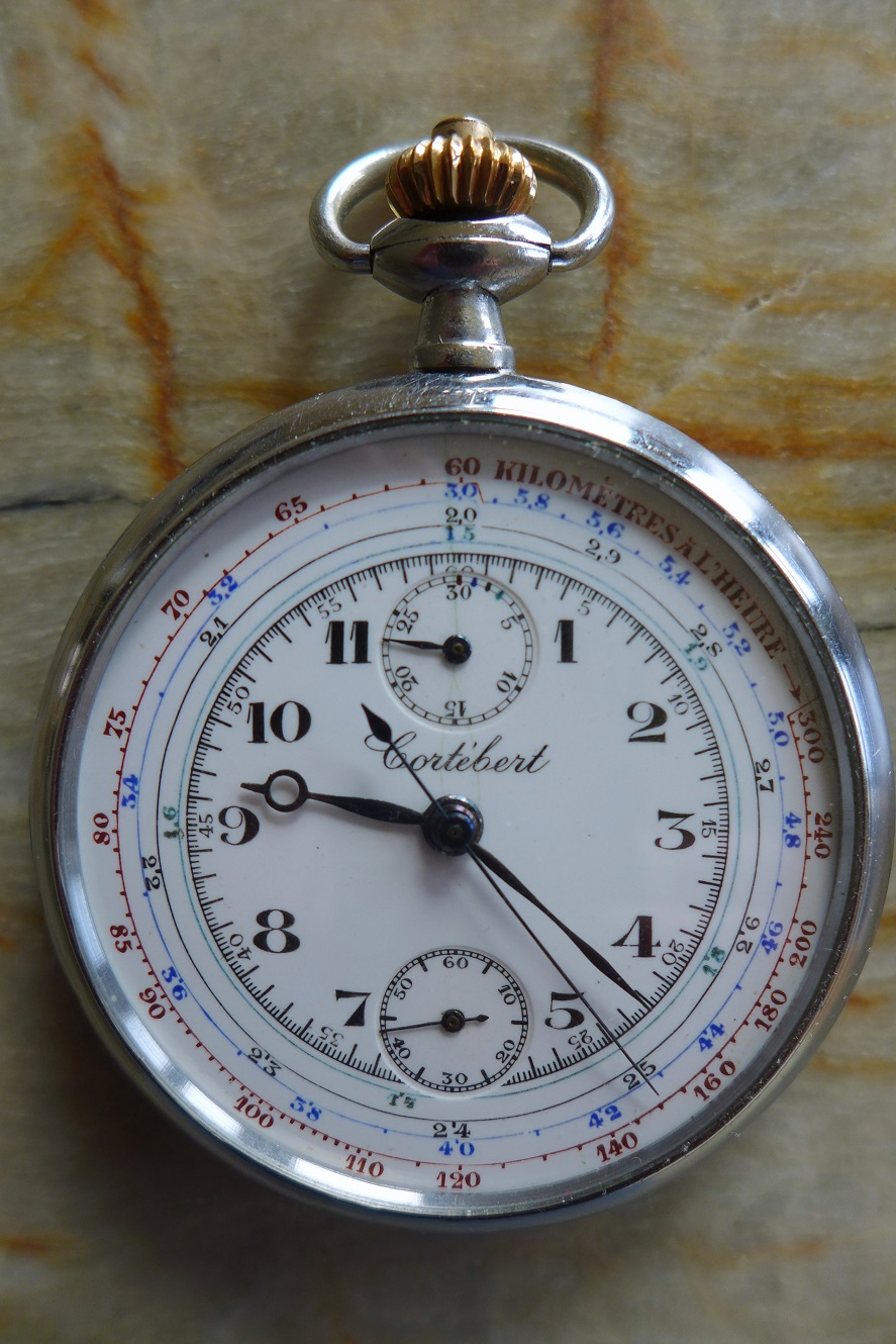 Cortibert Swiss original vintage pocket watch and stop watch