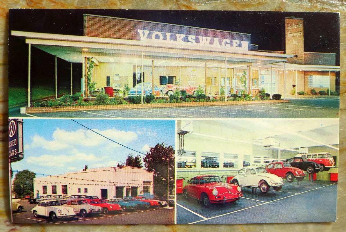 356 at Holbert Garage post card