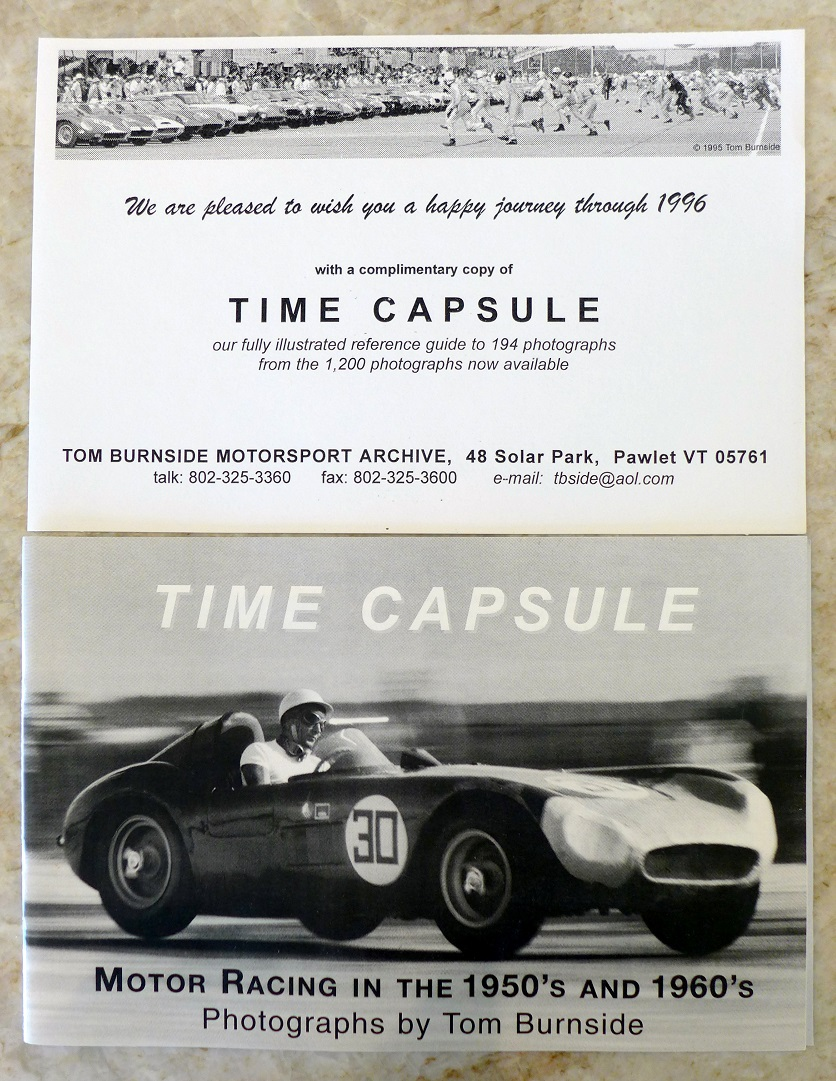 Time Capsule Tom Burnside photo catalogue