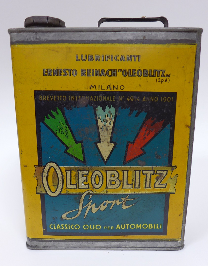 Oleoblitz Sport original vintage oil can