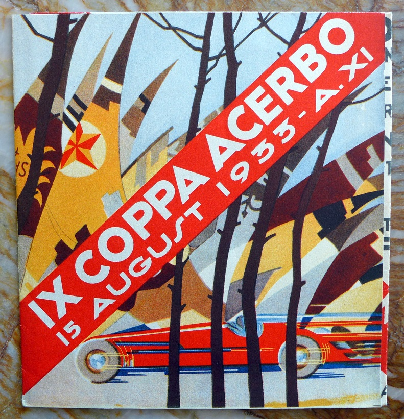 Coppa Acerbo 1933 original vintage race folder