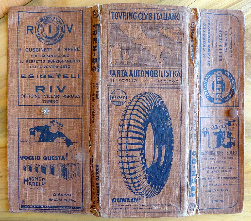 Automotive map of Italy 1920's