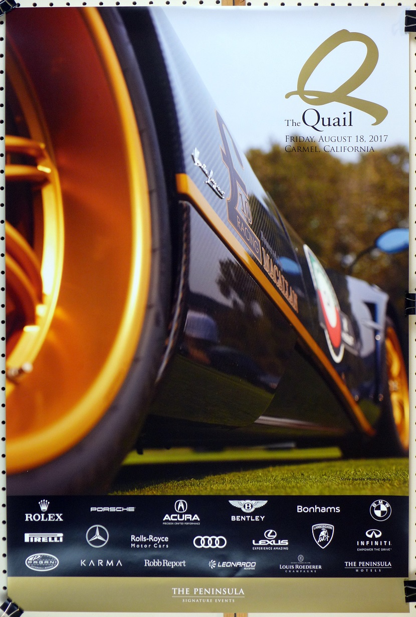 The Quail 2017 original event poster Pagani