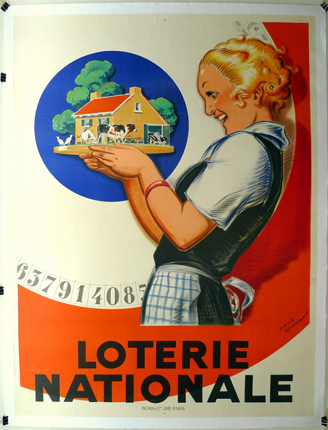Loterie Nationale original vintage event poster