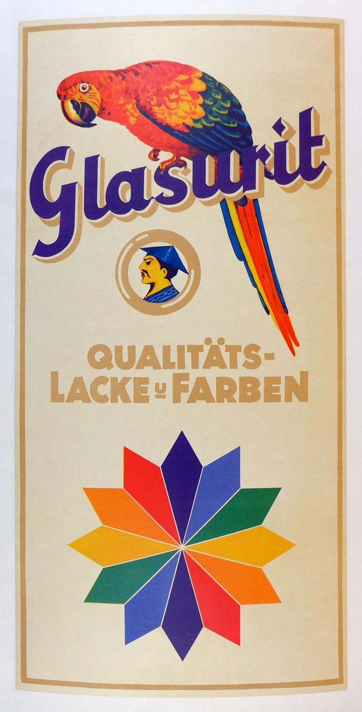 Glasurit paint original vintage auto product poster