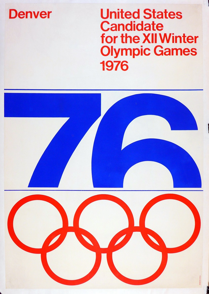 1976 Denver Official Olympic candidate vintage advertising promotional poster