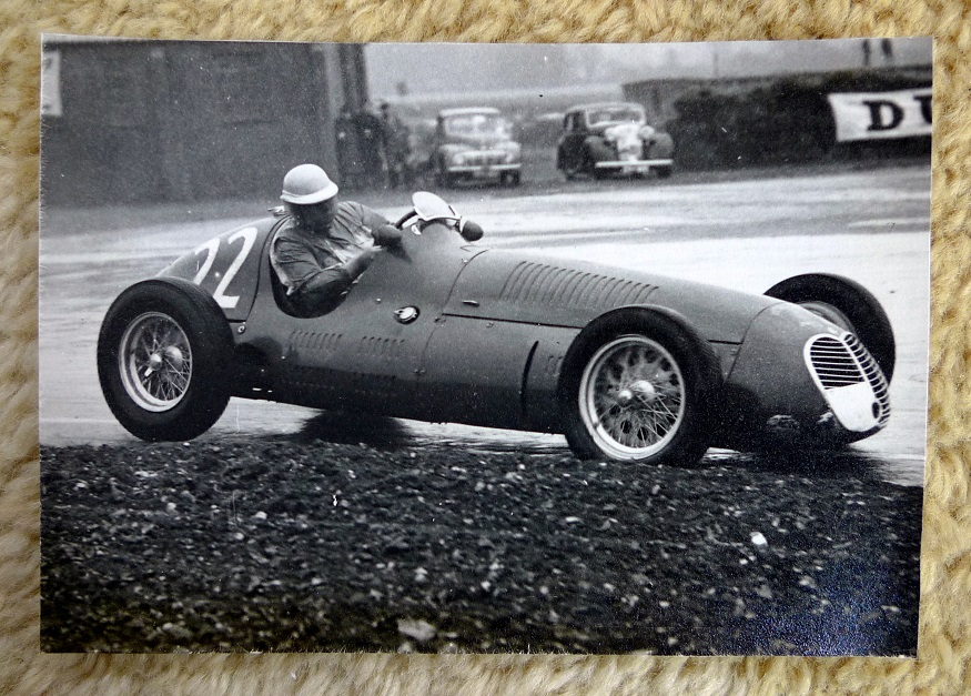 Gonzales Grand Prix Maserati original vintage auto race photo