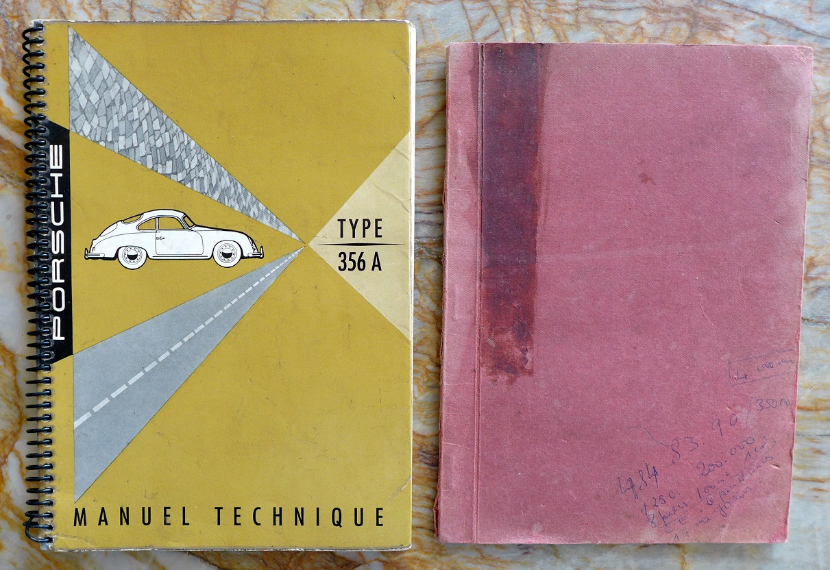 1957 Porche Carrera GS & GT owners manual set French