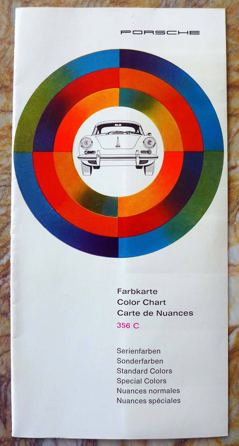 Porsche 356 C color chart original vintage