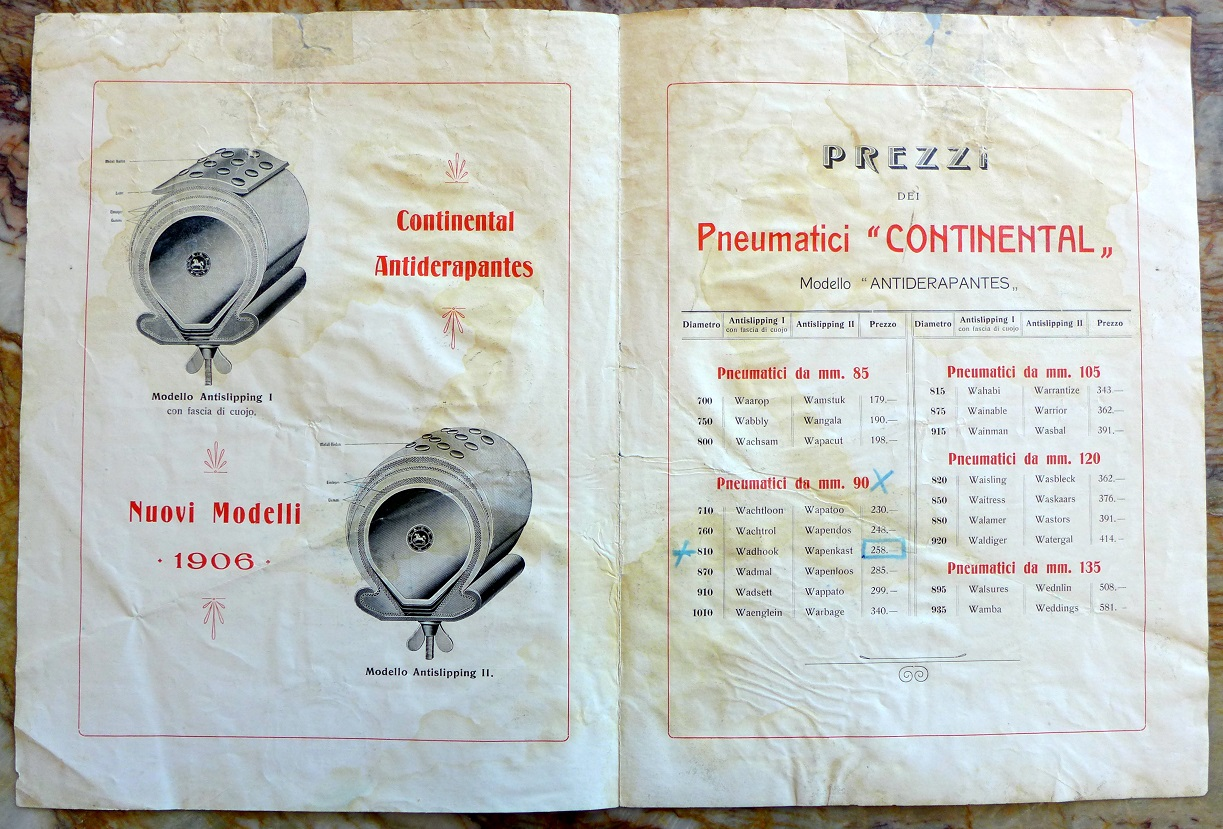 Continental Tires 1906