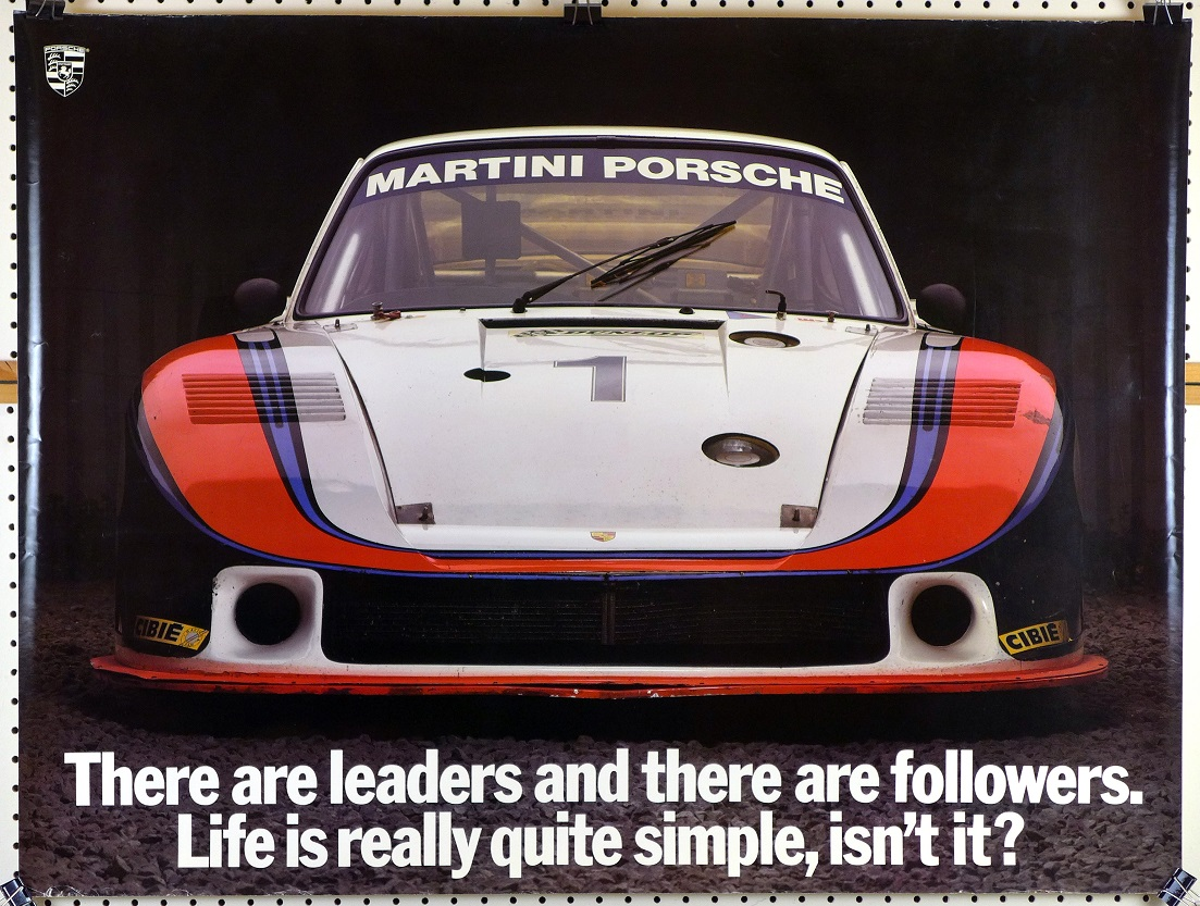 Martini Porsche There are leaders and there are followers original vintage poster