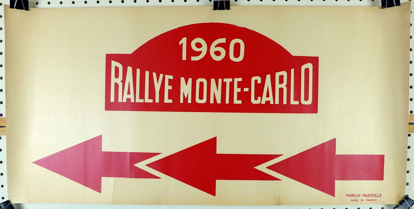 1960 Rallye Monte Carlo directional poster