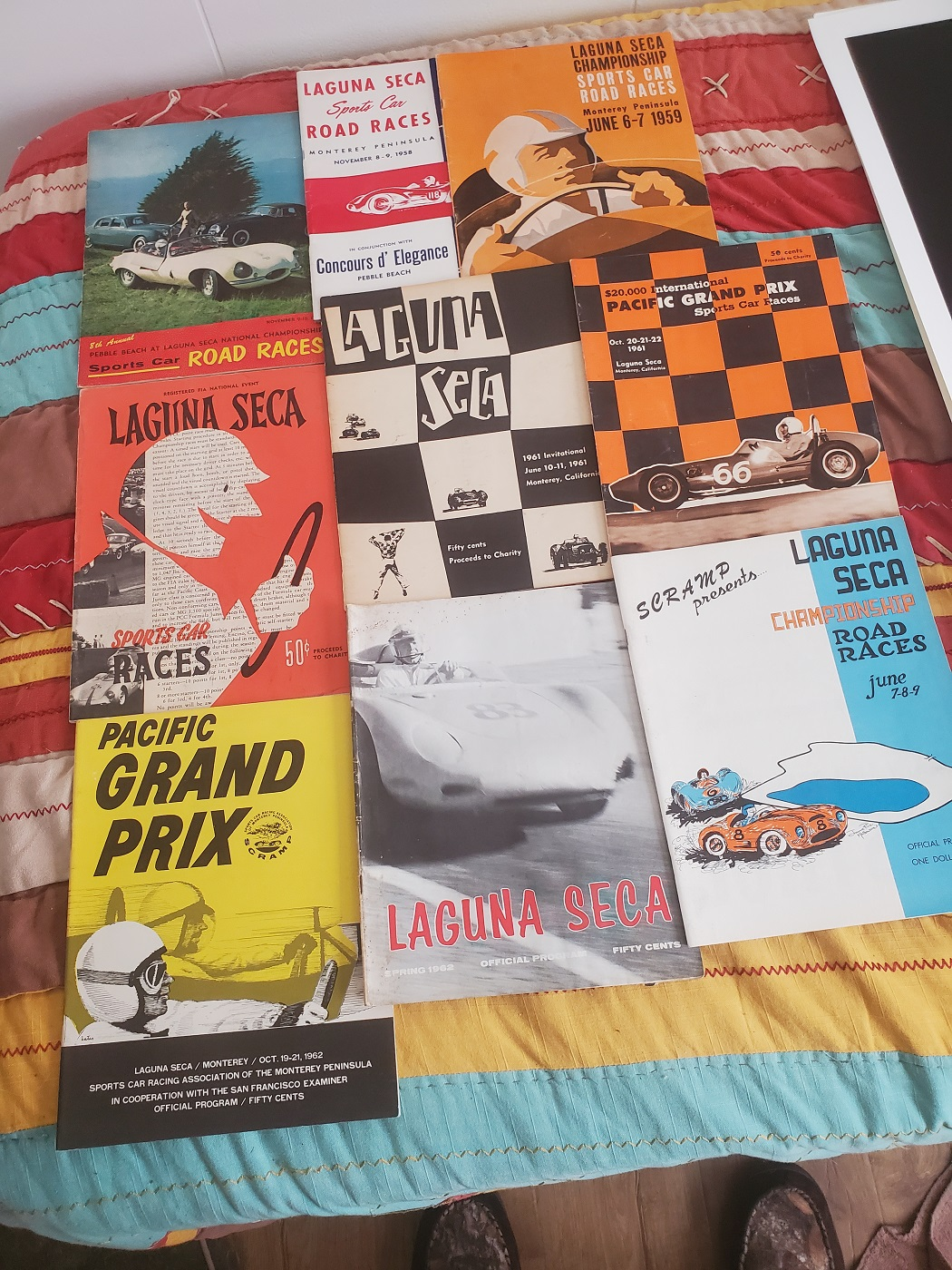 Laguna Seca lifetime collection posters programs