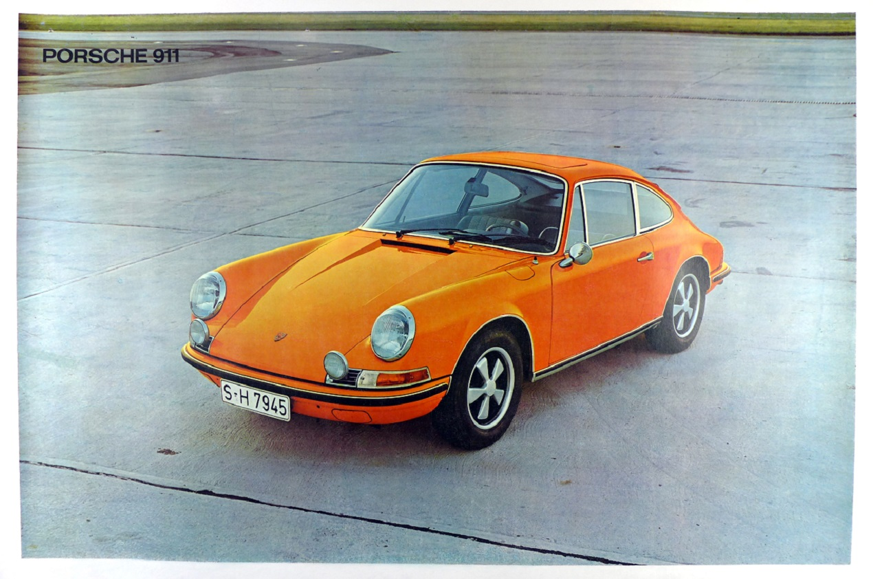 Porsche 911 original vintage showroom advertising poster