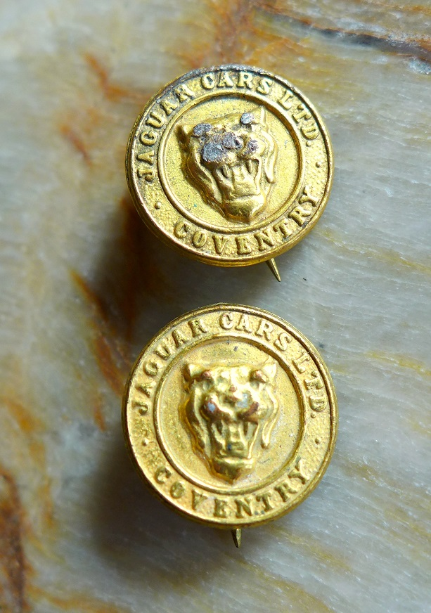 Jaguar Cars Ltd Coventry original vintage pins