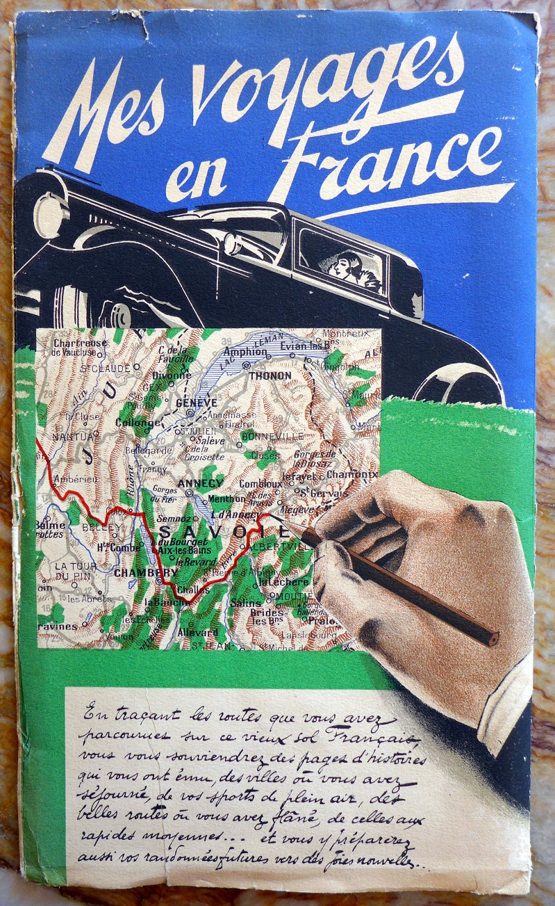 Mes Voyages en France, 1934, original vintage map