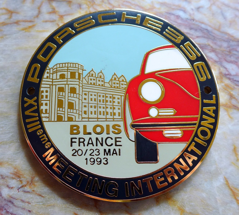 International 356 Meeting, Blois, France 1993 original vintage car badge