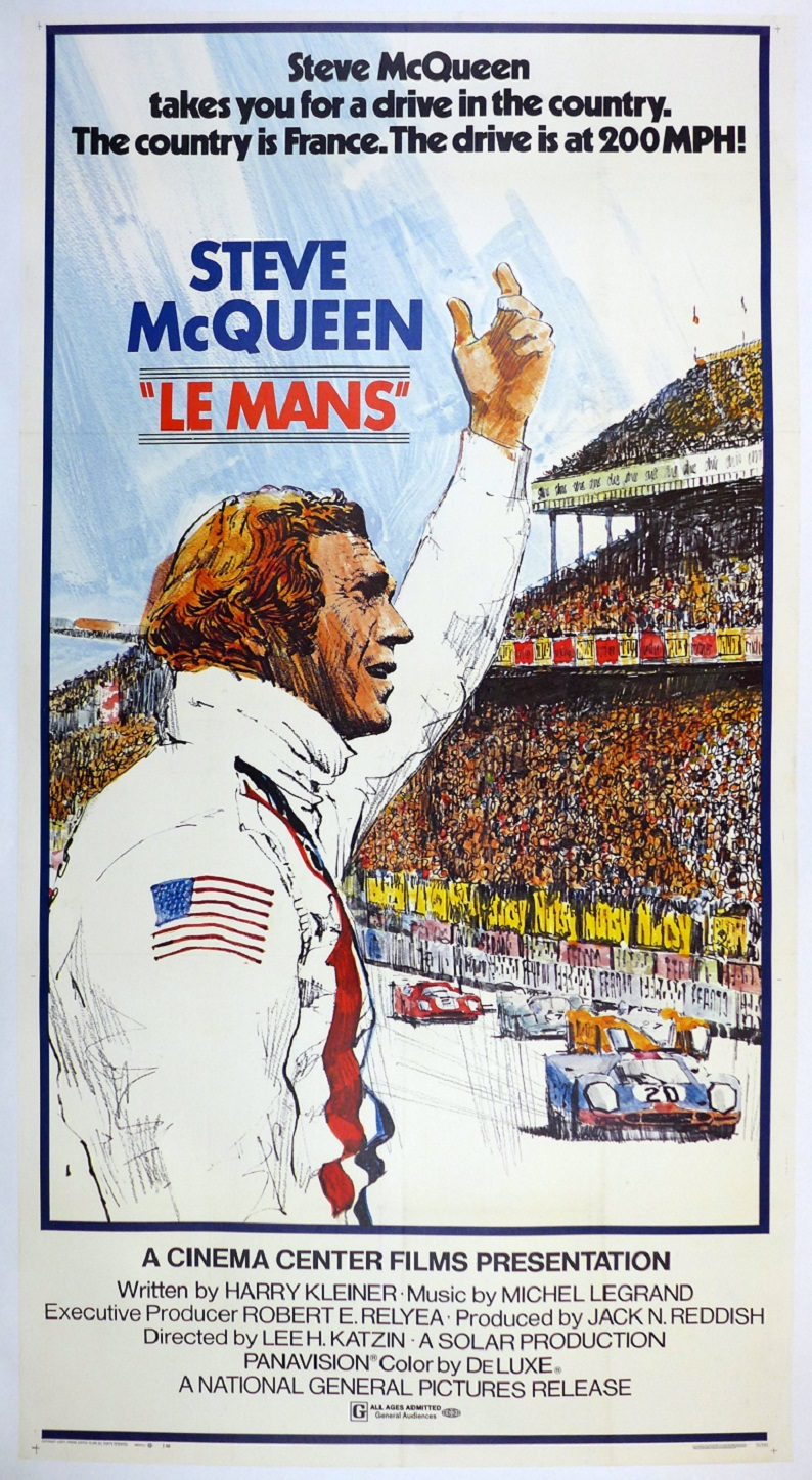 Le Mans original vintage giant movie poster Steve McQueen 3-sheet ultra rare size