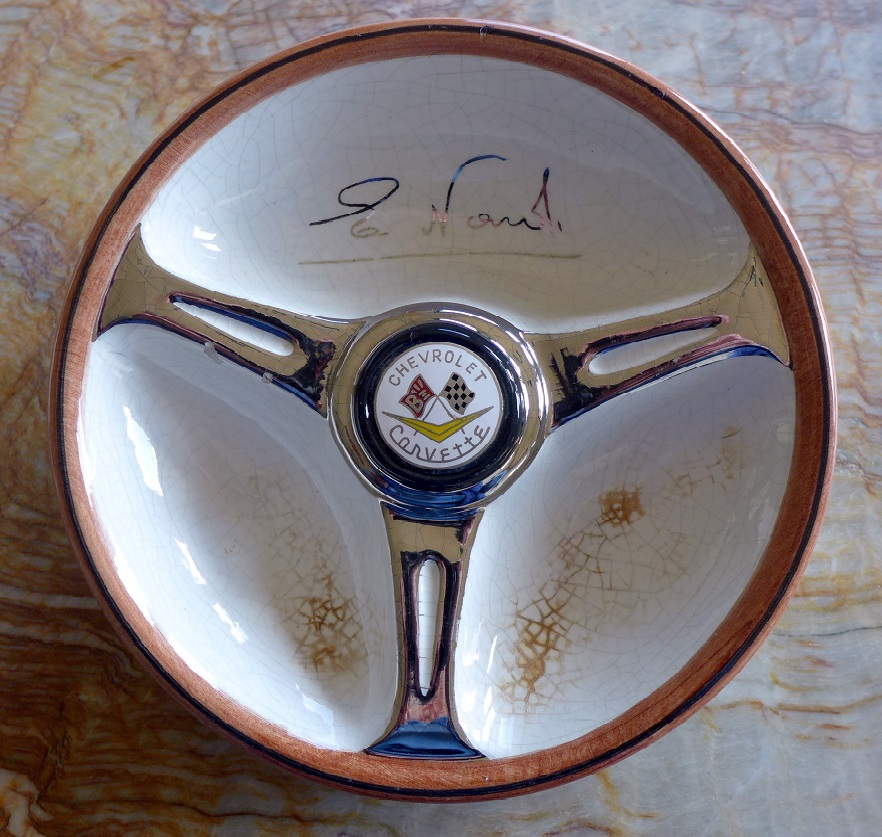 Corvette ashtray by Nardi original vintage