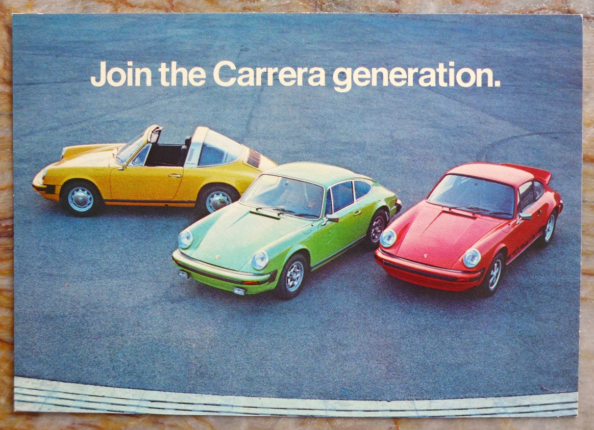 Porsche Factory 1976 original vintage Carrera 911 post card