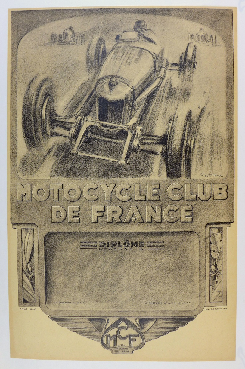 Motorcycle Club de France original vintage poster
