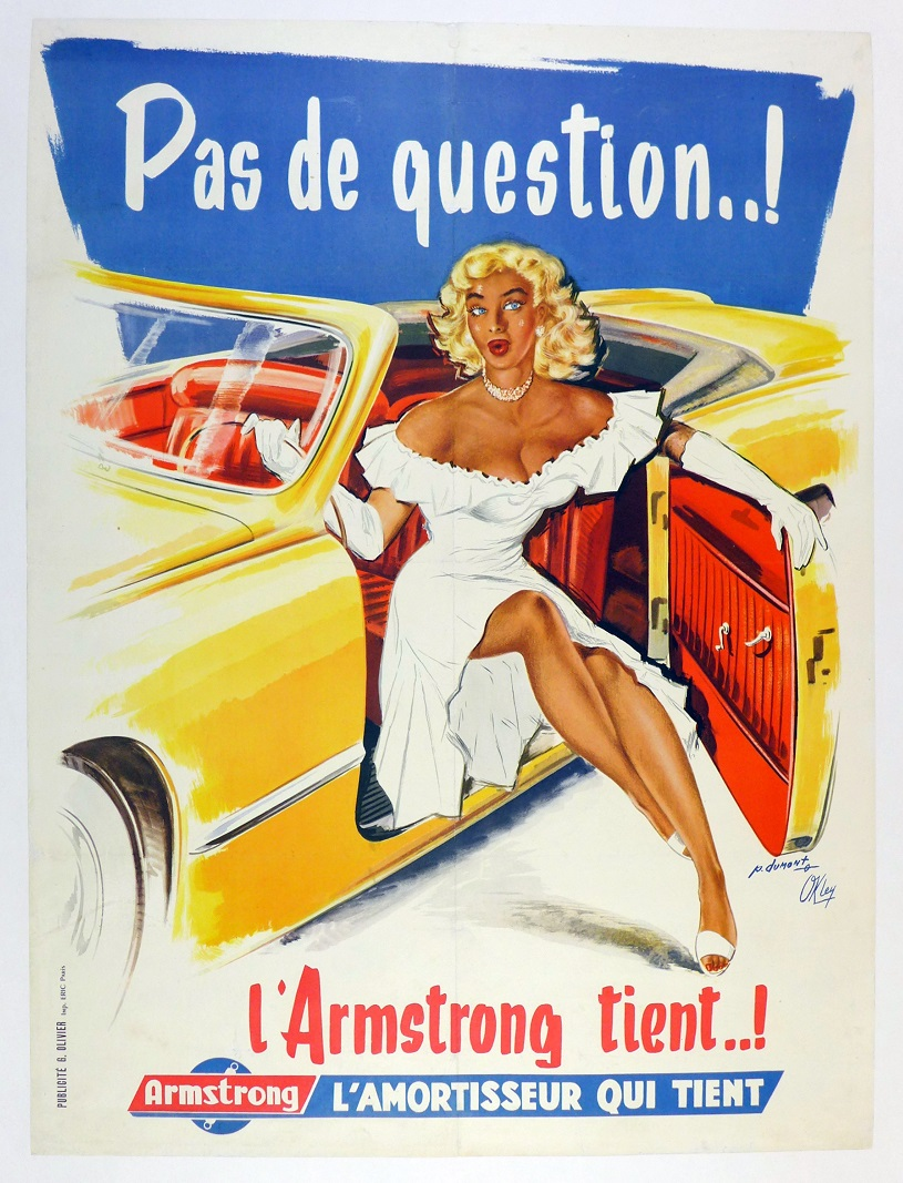 Armstrong shock absorbers original vintage auto advertising poster