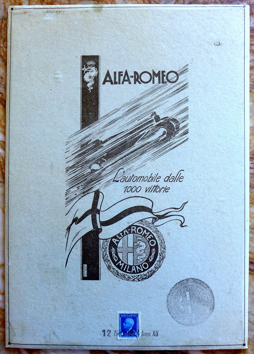 Alfa 1000 victories original vintage advertising counter card