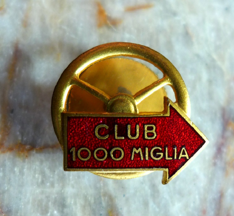 Club Mille Miglia original vintage lapel pin