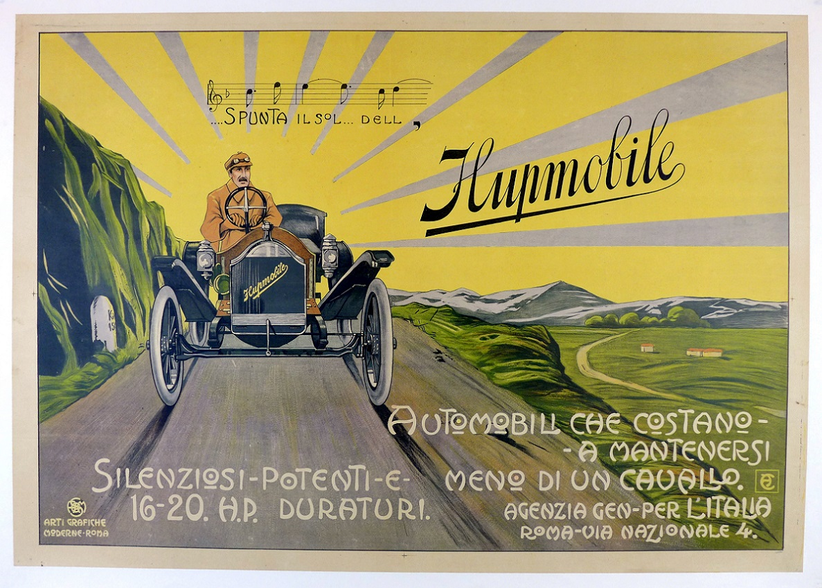 Hupmobile original vintage advertising poster