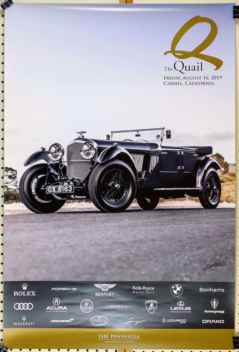 The Quail 2019 event poster pre-War Bentley