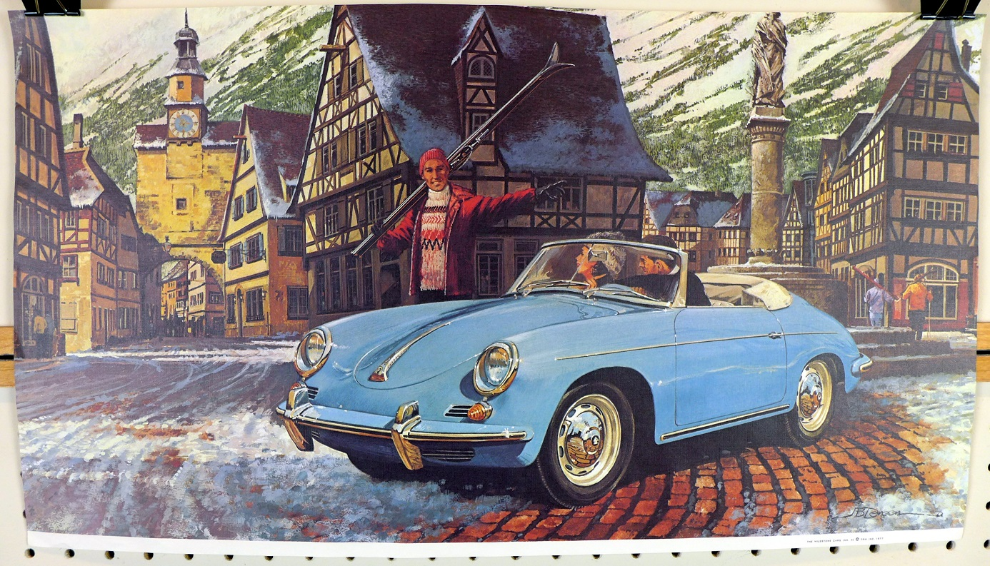 356 B Porsche Roadster in ski village original