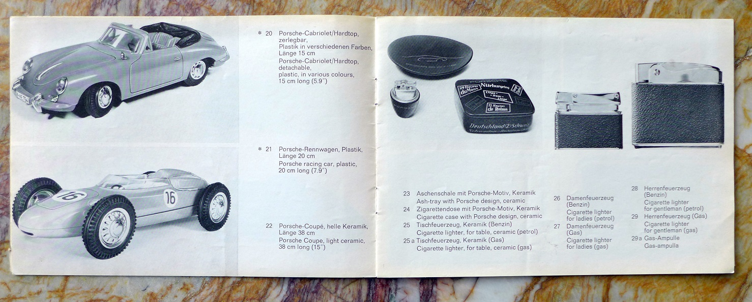 Porsche Advertising Articles original vintage 1963 catalogue