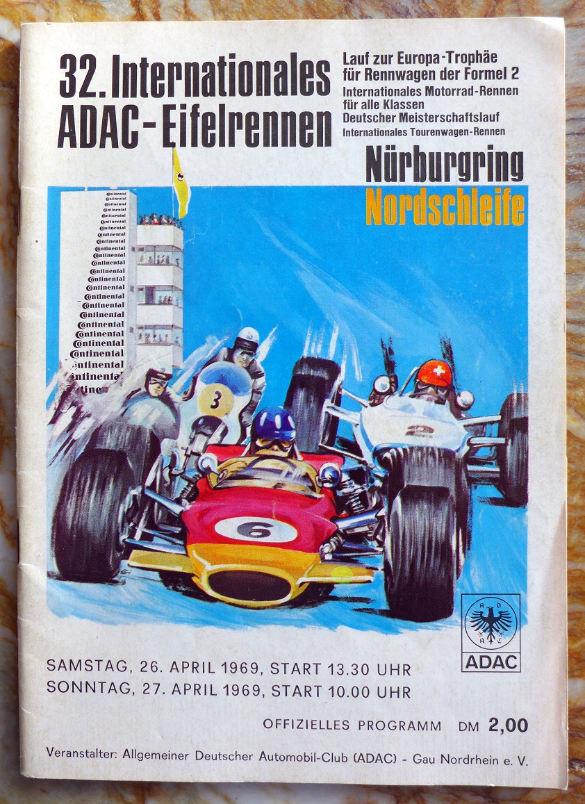 32nd Eifelrennen at Nurburgring 1969 Formula 2 and motorcycles