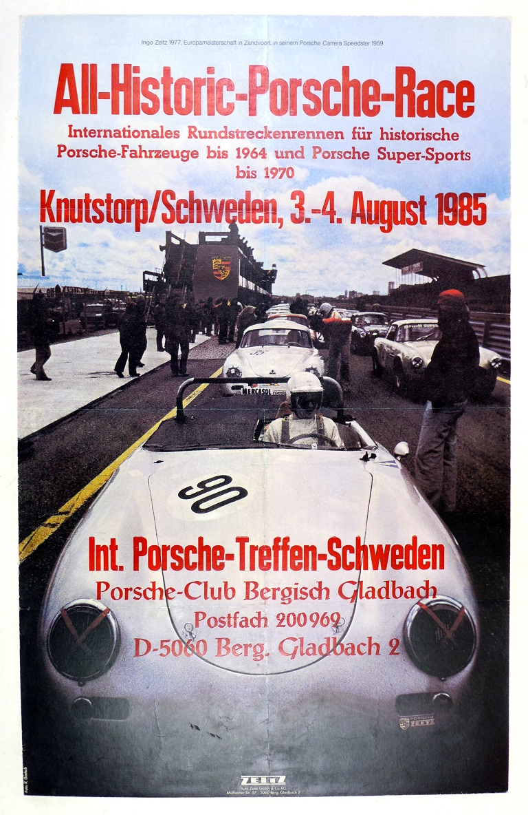 Historic race event poster Porsche 1959 Carrera GT Speedster