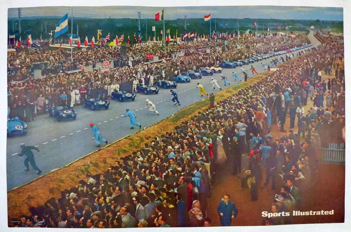 Le Mans Road Races Sports Illustrated original vintage auto race advertising poster