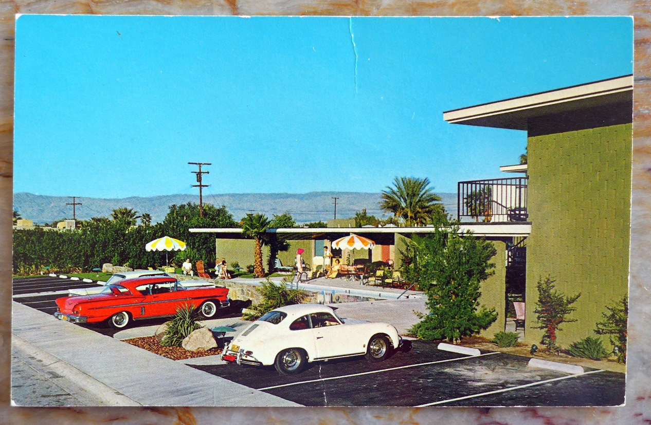 356 A at Palm Springs, CA hotel original vintage postcard