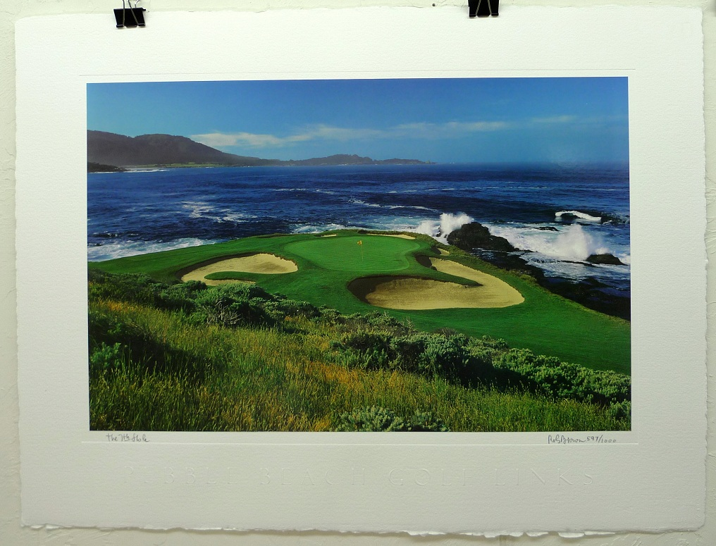 The 7th Hole at Pebble Beach limited edition print by Rob Brown