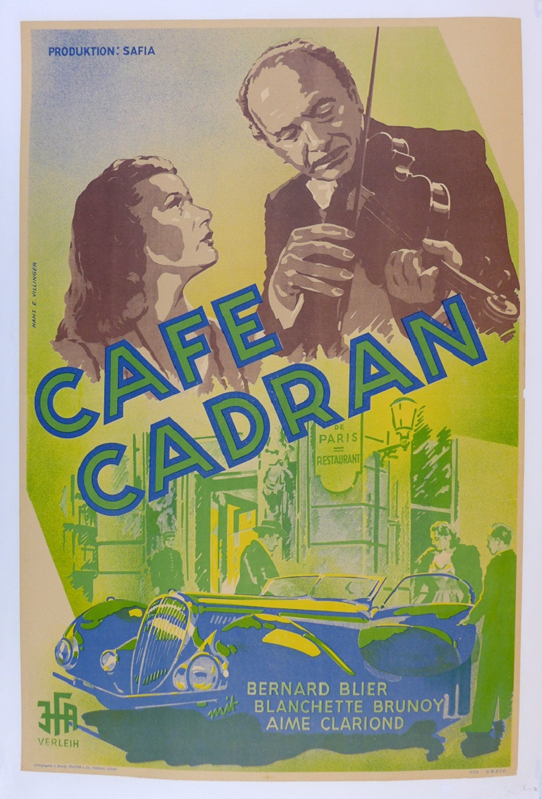 Cafe Cadran original vintage auto movie poster Delahaye