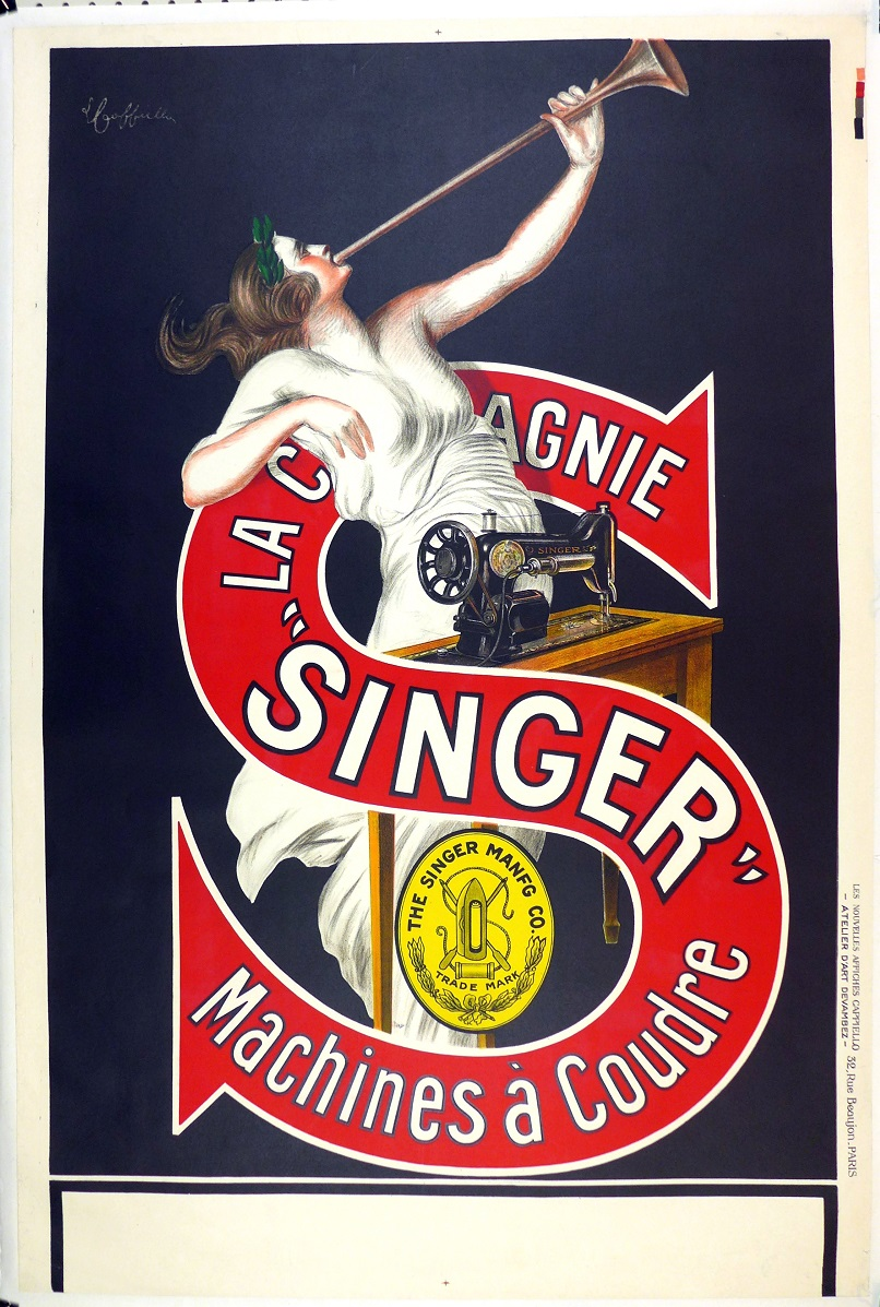 Singer original vintage advertising poster Cappiello