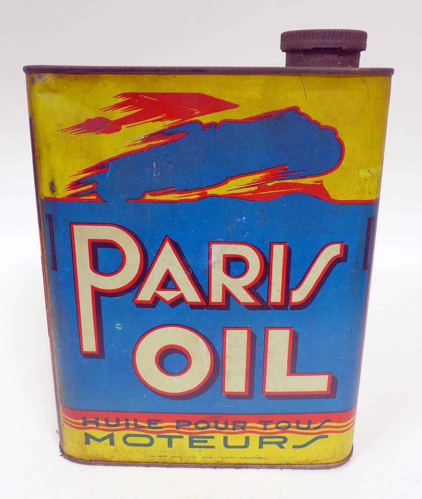 Paris Oil original vintage oil can