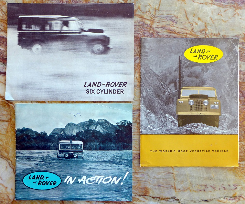 Land Rover original vintage sales literature